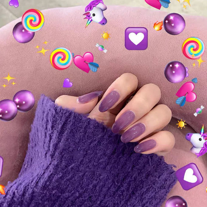 Wearing Nail Art Fake Patches ins Pieces Detachable Long Section Short Finished Student Society