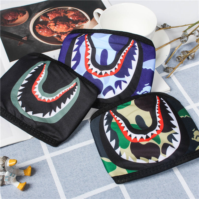 Shark ape-man masks hip-hop tide brand dust-proof and anti-haze can be cleaned easy to outside breathable men women mask