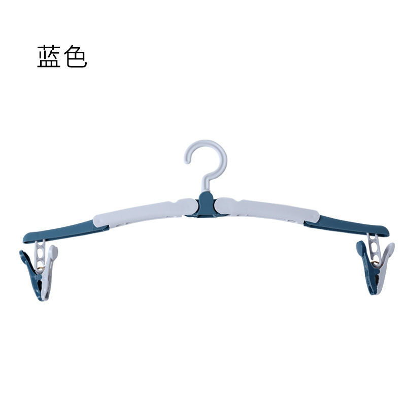Traveling on a business trip, portable folding balcony, indoor drying clothes, adult clothes hangers, non-slip multifunctional support