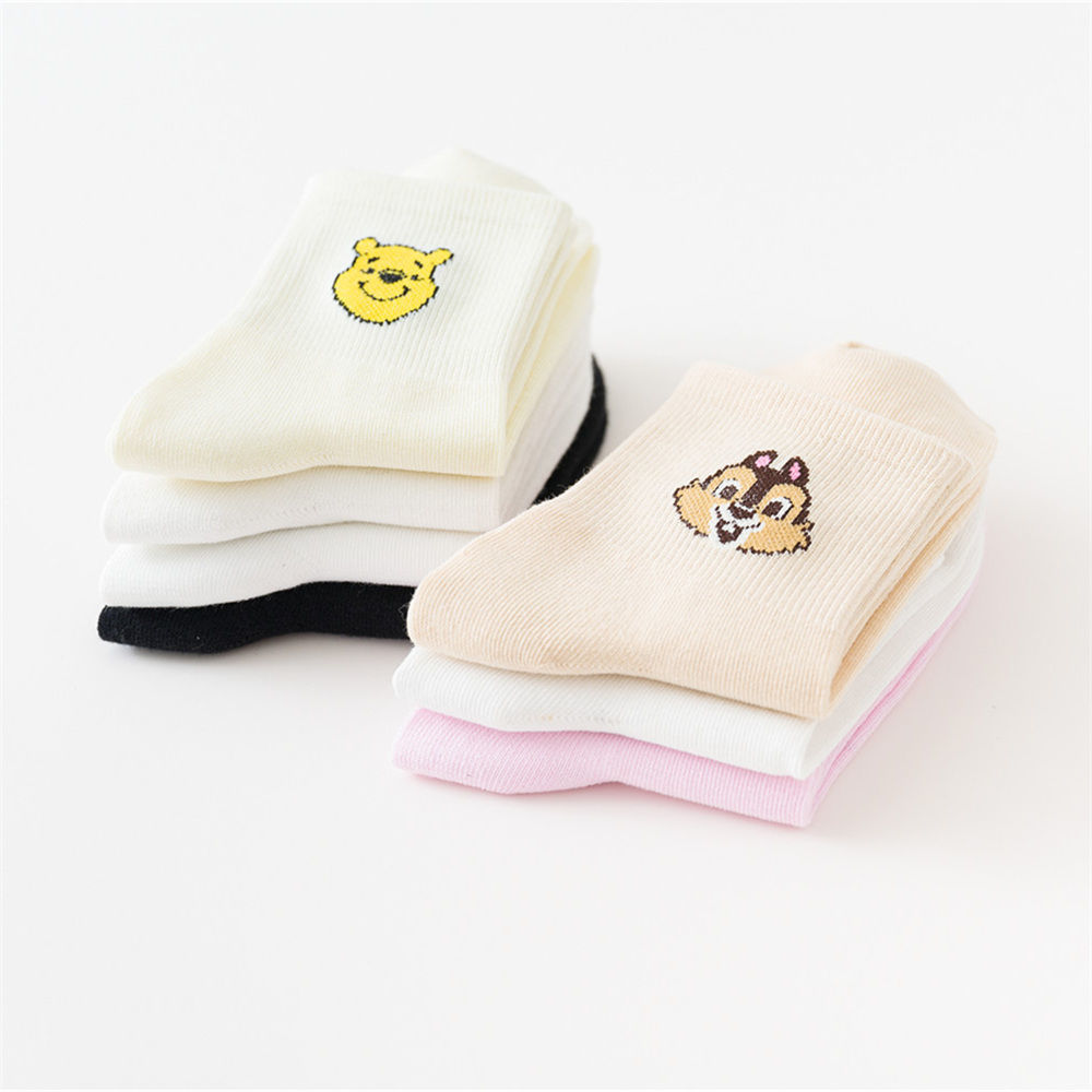 Japanese Mickey socks female spring and summer ins wind cute student trendy tube sports stockings new Korean version