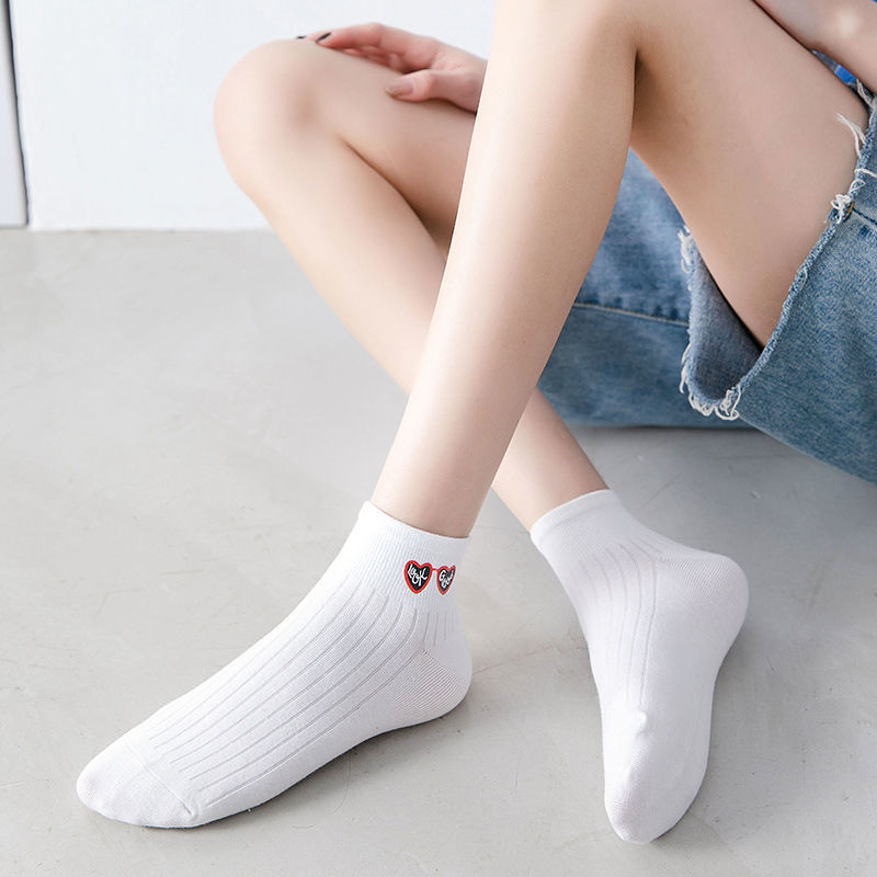 White socks ins summer thin women's female spring and autumn models Korean version of the tube cute Japanese tide wild net red