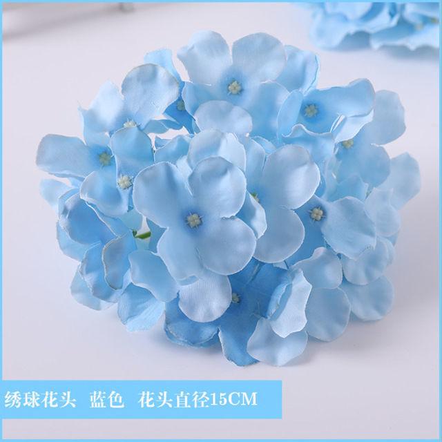 Blue simulation fake flower wedding road guide decoration bouquet hall arch oncidium fog ceiling silk