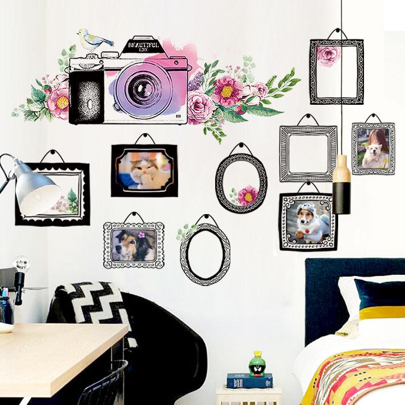 Personality living room sofa background wall ins art stickers creative bedroom study fashion giraffe door