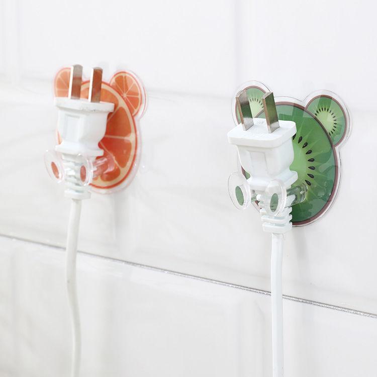 Fruit glue plug hook wall plastic seamless hole-free socket storage sticky