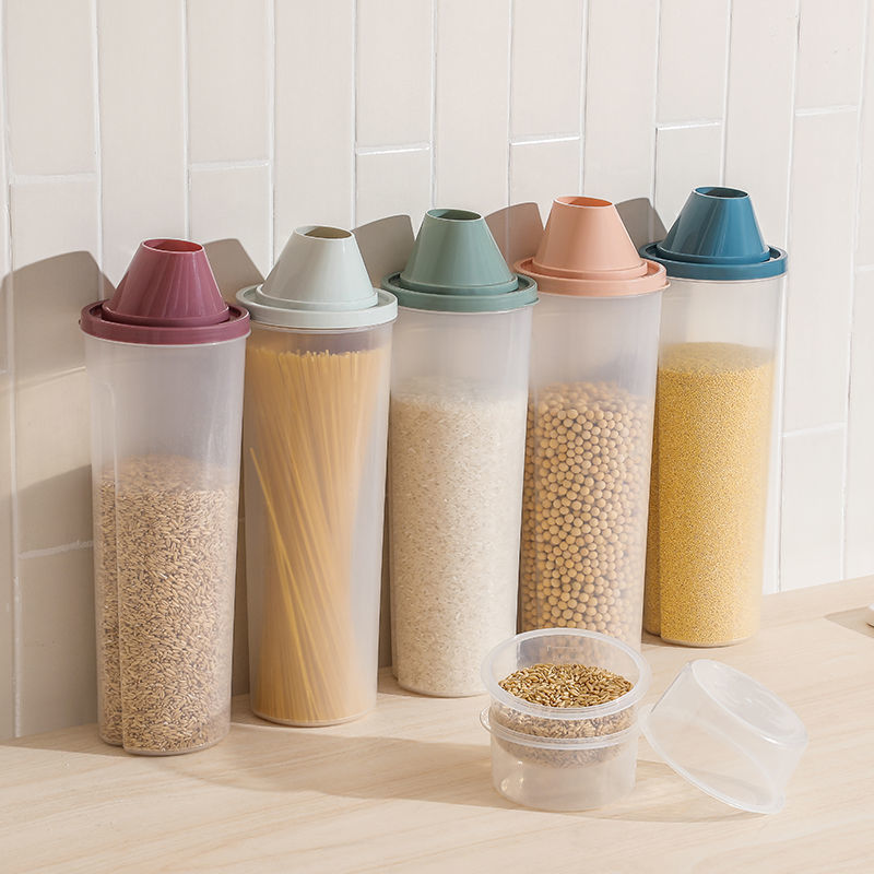 Whole grain storage tank plastic noodle box kitchen food dry goods sealed cans household