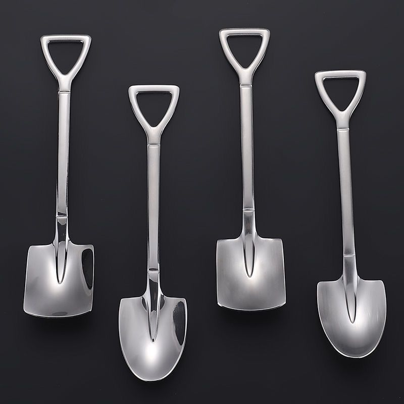 Thick stainless steel shovel spoon household retro creative dessert special for watermelon cute