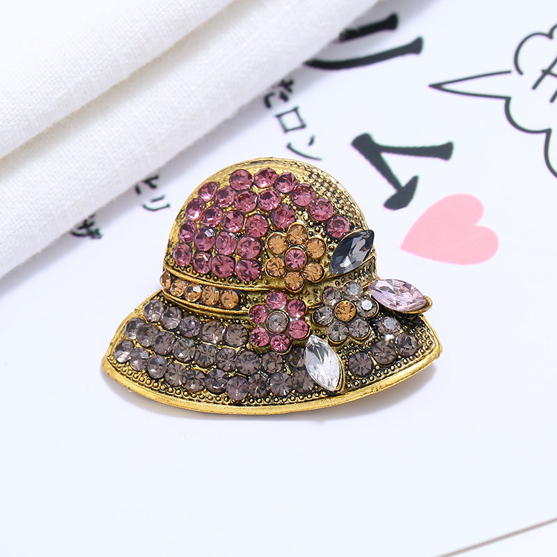 Japan and South Korea Fashion Simple Exquisite Small Brooch Anti-empty Pin Crystal Swan Pearl Corsage Cardigan Sweater Accessories