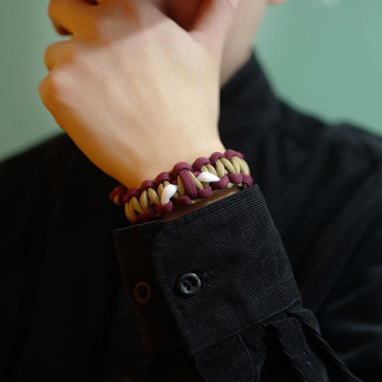 Iron Man Luminous Bracelet European and American Tide Brand Handmade Men Women Couple Gifts