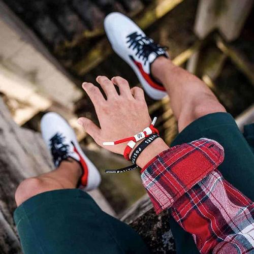 Trendy Fashion Little Lion Hip Hop Bracelet Gradient Rope Knot Perspective Mini Braided Shoelace Couple for Men and Women
