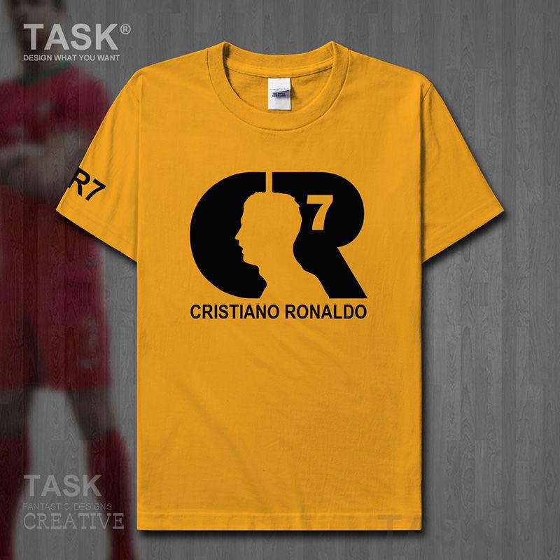 TASK Ronaldo Cristiano T-shirt men's short-sleeved Real Madrid No. 7 football shirt La Liga couple CR7 cotton clothes summer 15