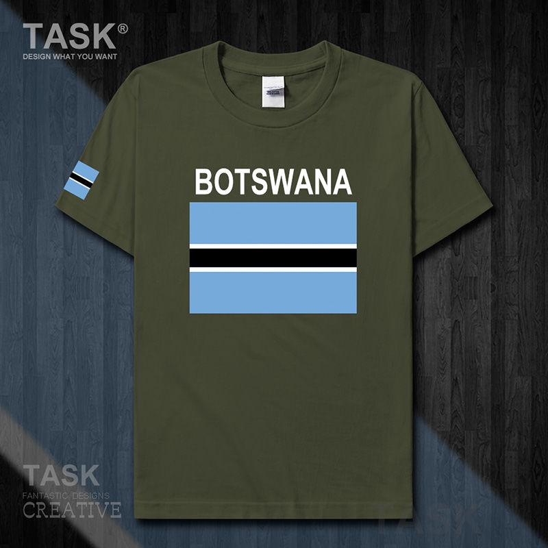 Botswana football pure cotton T-shirt short-sleeved men's and women's team uniform sports fan shirt national summer 02