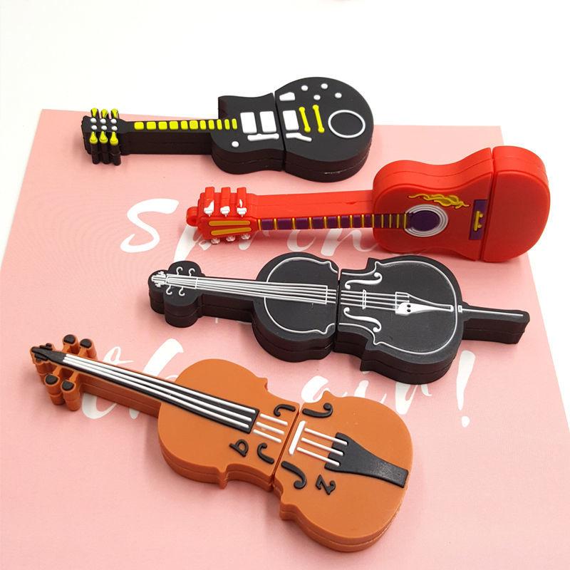 Girls Cute U Disk 32G64G Accordion Violin Guitar Creative Personality Birthday Gift USB Flash Drive